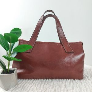 FOSSIL chestnut leather rectangle bag